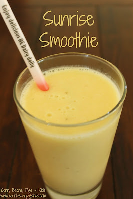4 ingredient Sunrise Smoothie #AEdairy #ad