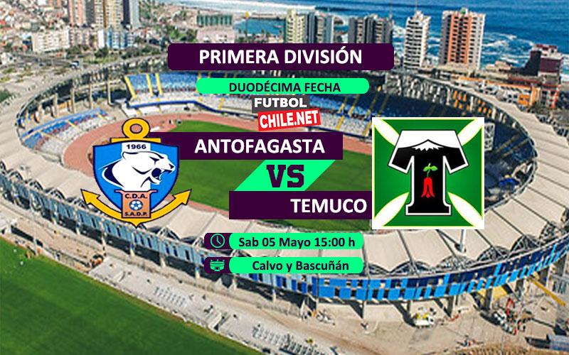 Mira Deportes Antofagasta vs Deportes Temuco en vivo y online desde las 15:00 h por la Primera División