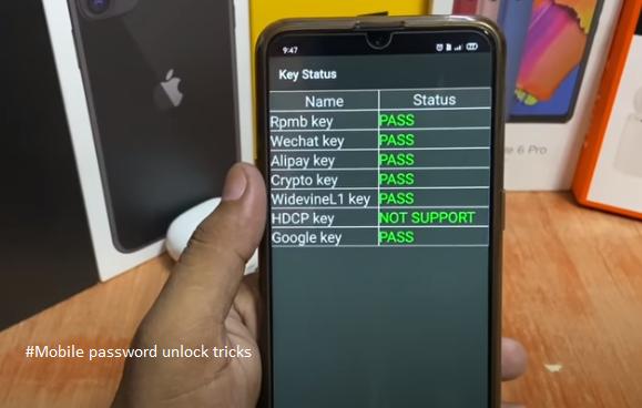 Mobile password unlock tricks