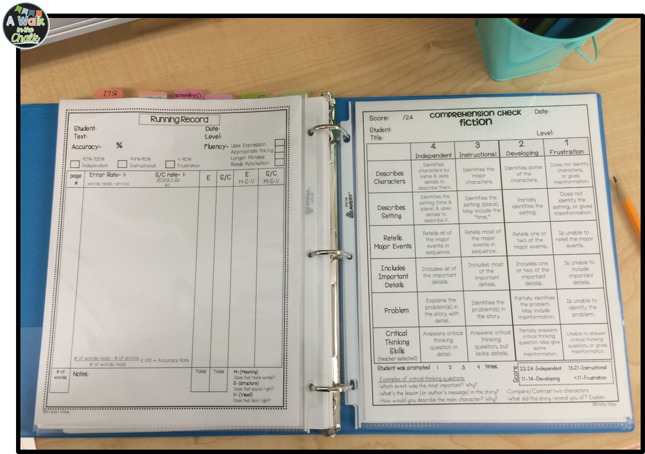 Tremendous Classroom Organization Setting Up A Guided Reading Binder Download Free Architecture Designs Scobabritishbridgeorg