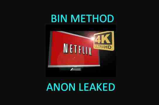 BIN METHOD NETFLIX DIRECT 100% WORKING - Anon Leaked