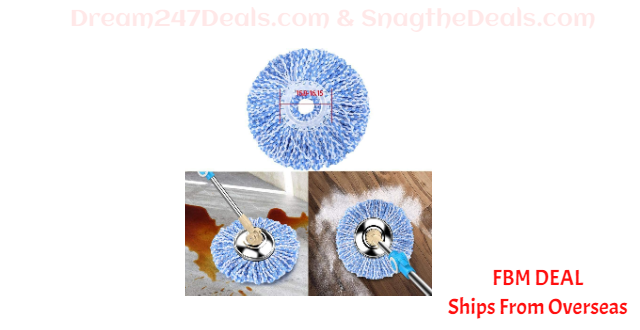 80%  off Househeld Cleaning Tool Spin Mop Replacement Head