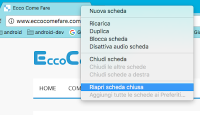 riaprire scheda chiusa browser