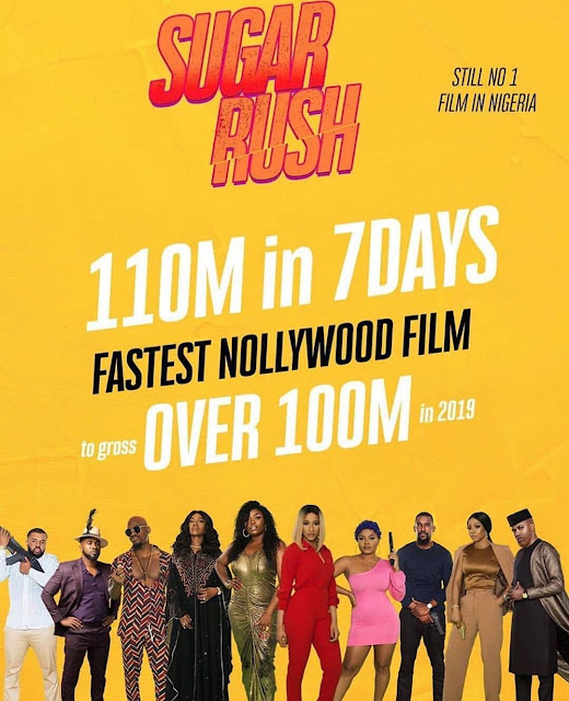 Suger Rush Becomes Fastest Nollywood Film To Gross Over N110 Million in Just 7 Days