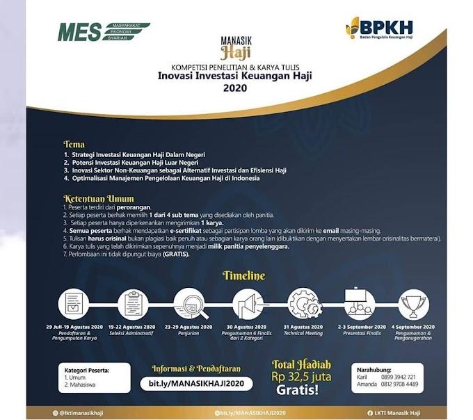Kompetisi Karya Tulis Inovasi Investasi Keuangan Haji 2020