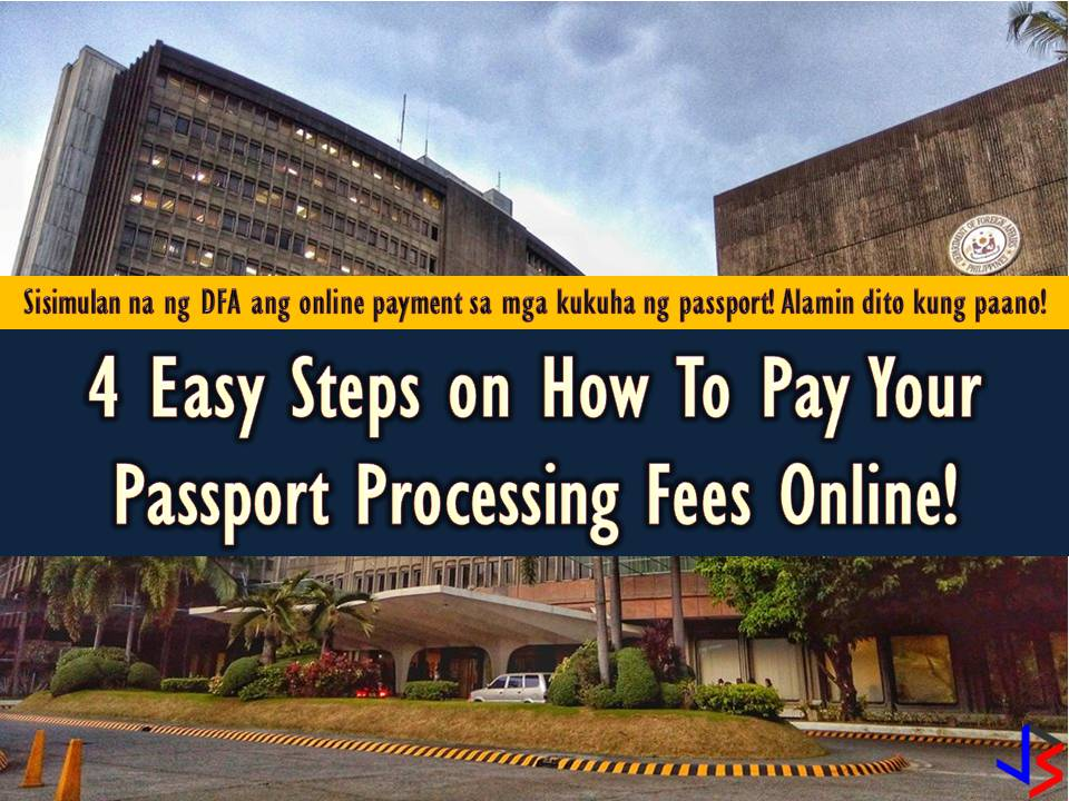 Planning to apply for a passport? The Department of Foreign Affairs (DFA) announced that passport applicants will soon be able to pay passport processing fees online or through designated payment centers.