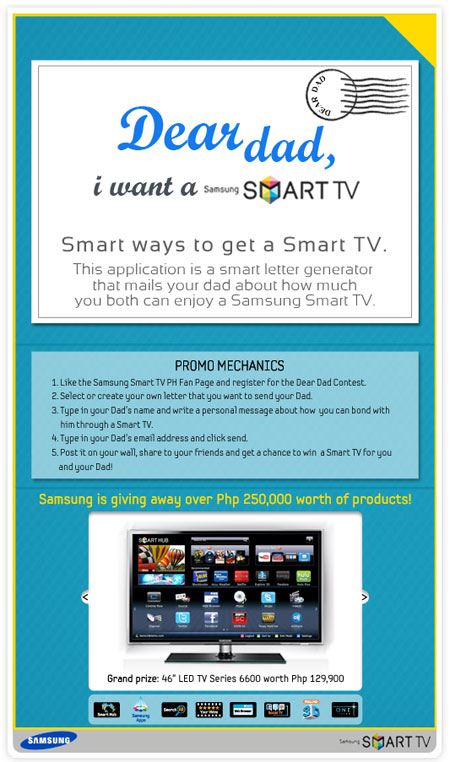 win a smart tv through samsung 39 s dear dad promo my opinion. Black Bedroom Furniture Sets. Home Design Ideas