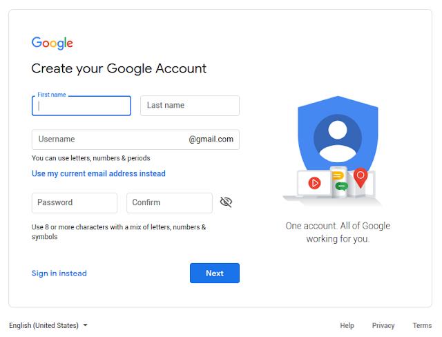 Cara Membuat Akun Gmail Baru Melalui Komputer dan Ponsel