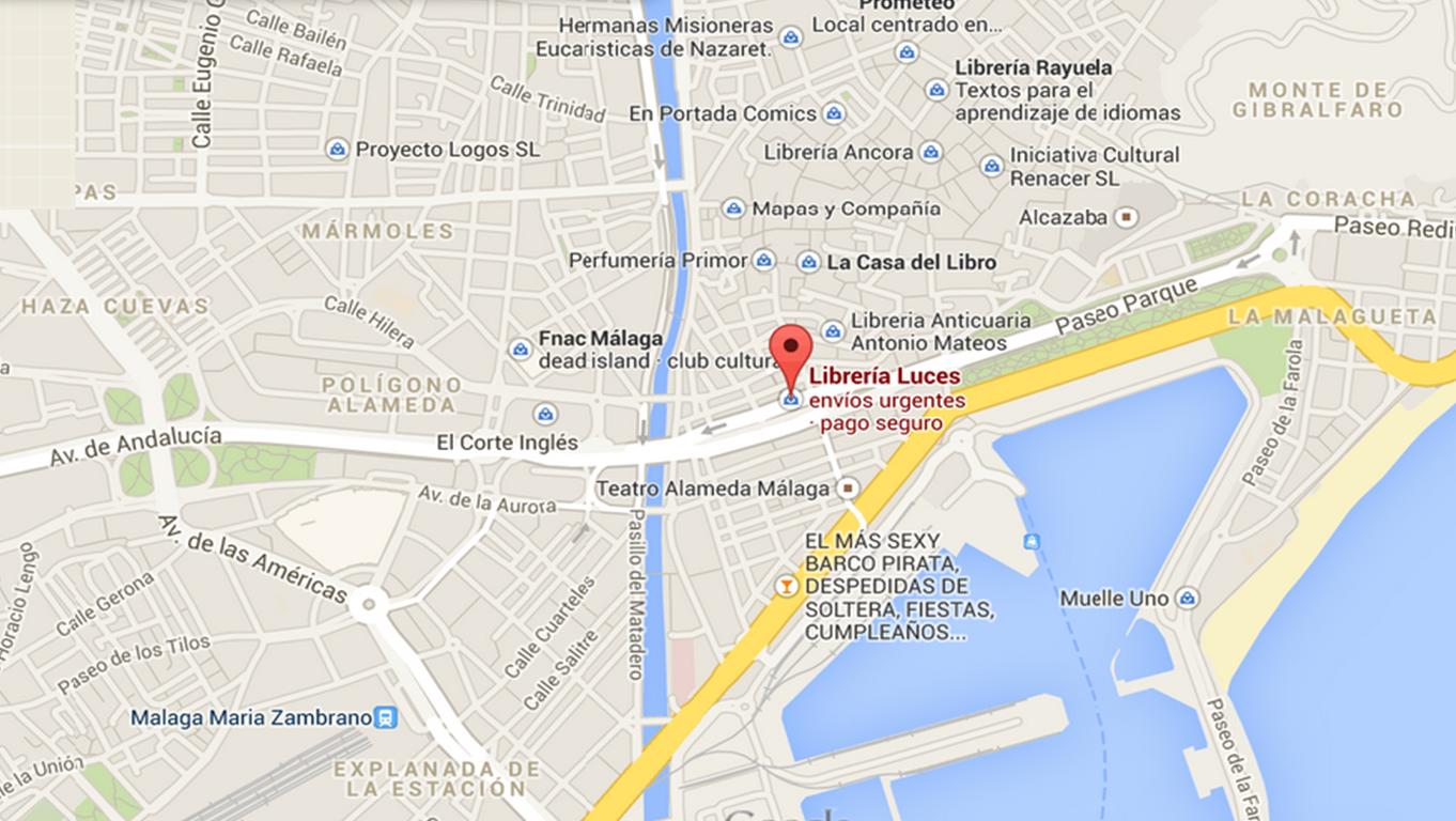 https://www.google.es/maps/place/Librer%C3%ADa+Luces/@36.717805,-4.423087,15z/data=!4m2!3m1!1s0x0:0xa9ba13d71abba456