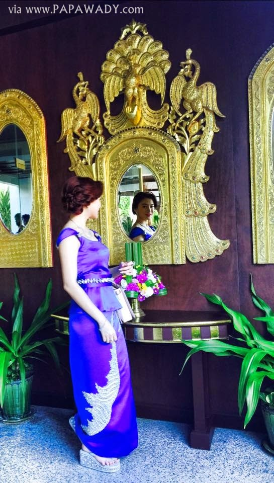 Wut Hmone Shwe Yi in Beautiful Myanmar Dress