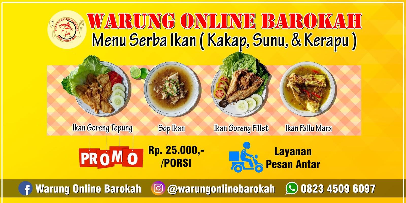 Desain Spanduk Makanan Online - desain spanduk kreatif