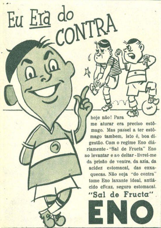 Propaganda antiga do Sal de Fruta Eno veiculada na metade dos anos 50