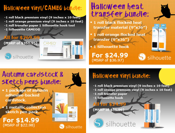 Silhouette Halloween Party Bundles & Promo Code