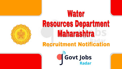 WRD Maharashtra recruitment notification 2019, govt jobs in Maharashtra, govt jobs for diploma, maharashtra govt jobs