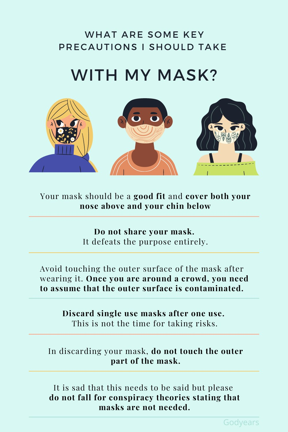 Precautions to Take While Wearing a Mask