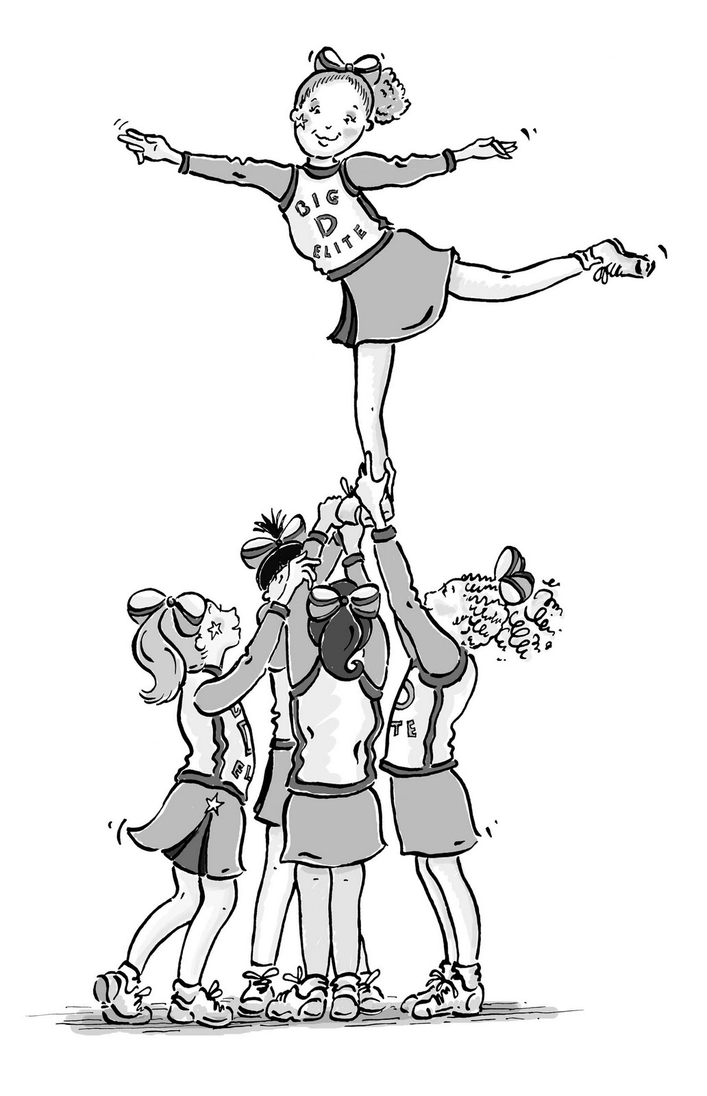 barbie cheerleading coloring pages - photo#20