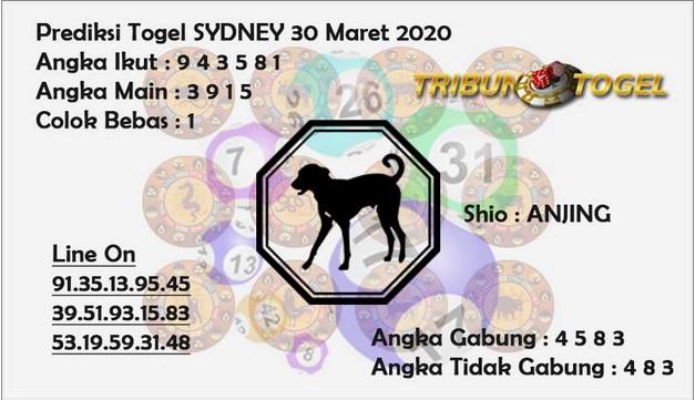 Prediksi Togel Sidney Senin 30 Maret 2020 - Prediksi Tribun Togel