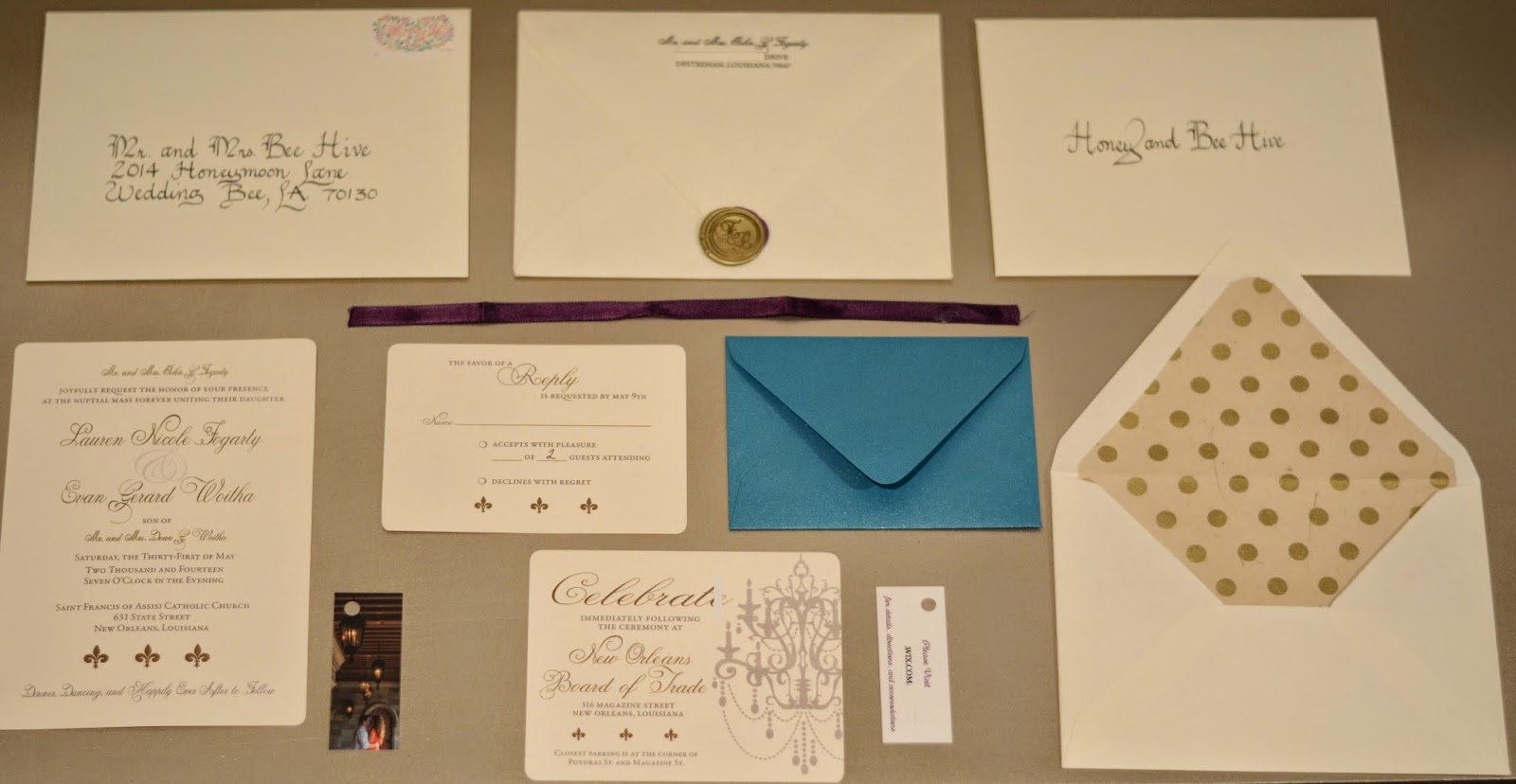 Parts Of Wedding Invitation: Fleur De Lips: Pyramid Invitations: Parts And Pieces