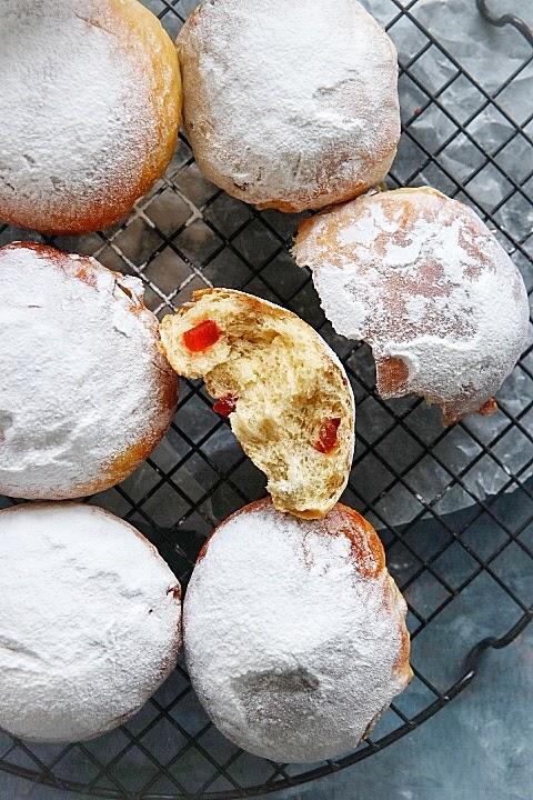 como hacer ambrosias pan dulce con frutas. Receta elgatogoloso.com