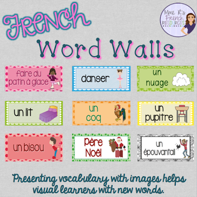 Teach French vocabulary with word walls