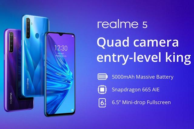 Nouveau smartphone Realme 5