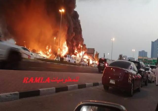 حريق ضخم في سوق عجمان في الإمارات, ملابسات وتفاصيل الحريق في إمارة عجمان