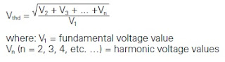 THD (for a voltage waveform)