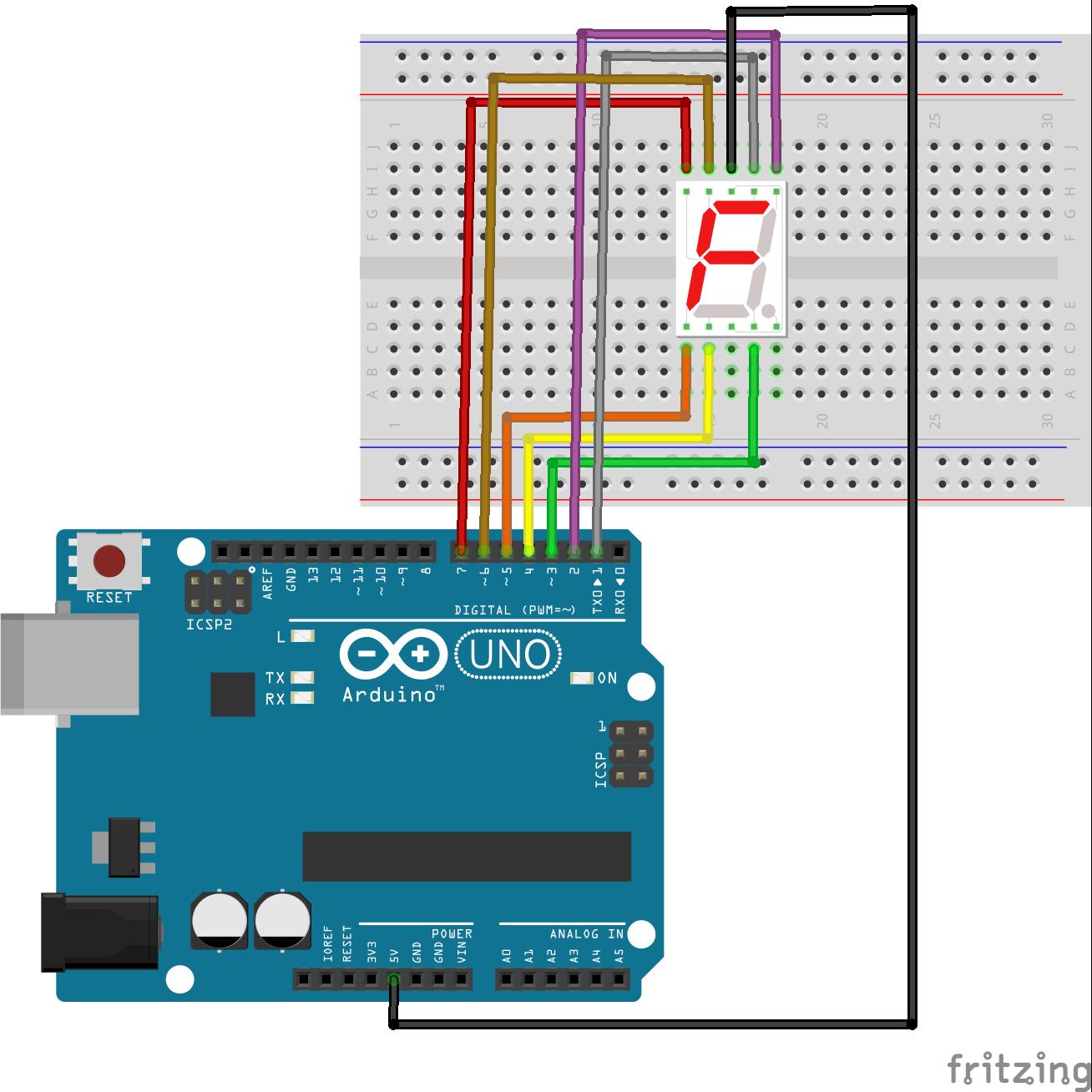 Arduino筆記(51):7段顯示器LED的應用 | 天花板隨記