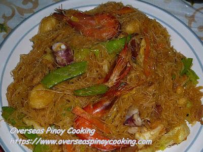 Pansit Bihon Seafood Dish