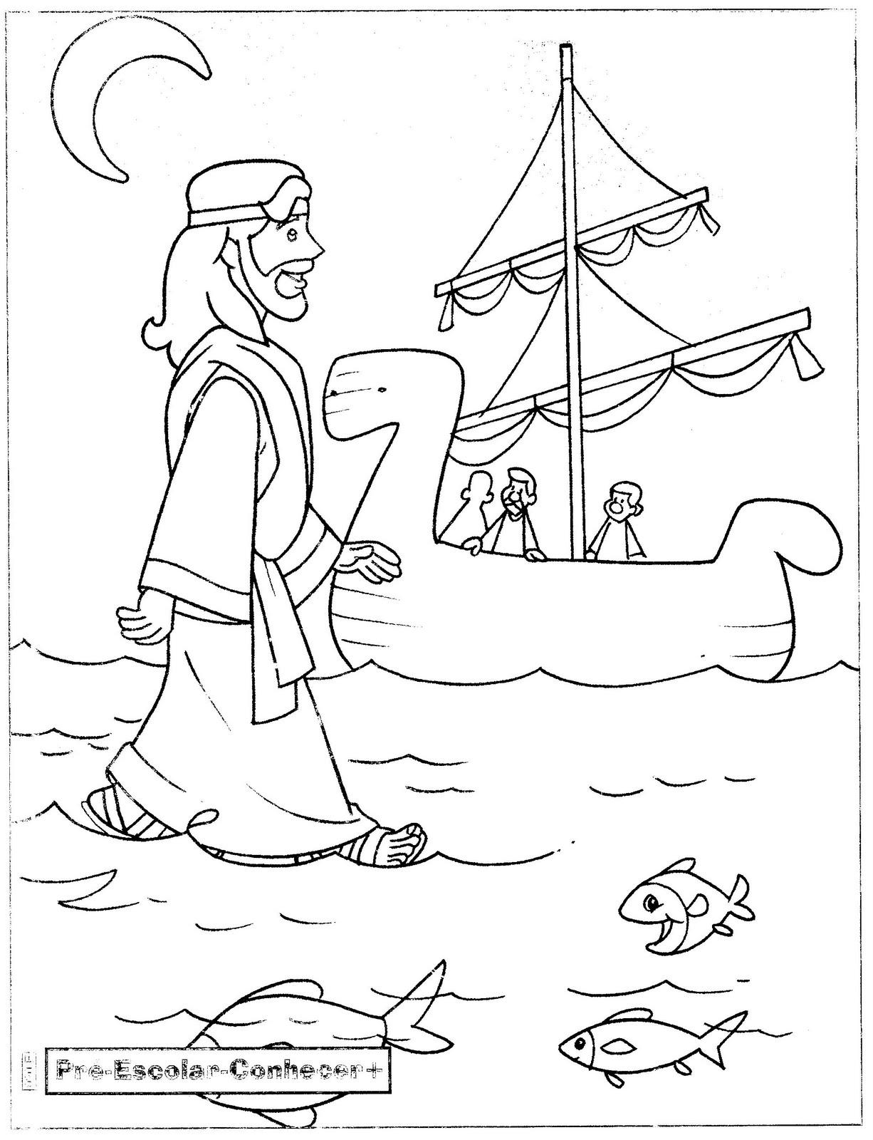 QUE VENTO FORTE! Jesus anda por cima das águas