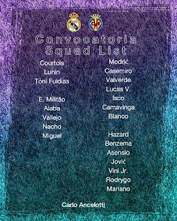 Los convocados por Ancelotti para recibir al Villarreal