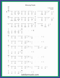 not angka warung pojok lagu daerah jawa barat
