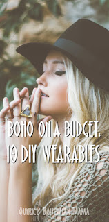 Affordable boho bohemian DIY projects. DIY bohemian clothing. DIY bohemian jewelry. Bohemian tutorials. DIY boho. Make your own bohemian clothing. Bohemian crafts. DIY bohemian clothing. How to be a bohemian. How to dress bohemian.