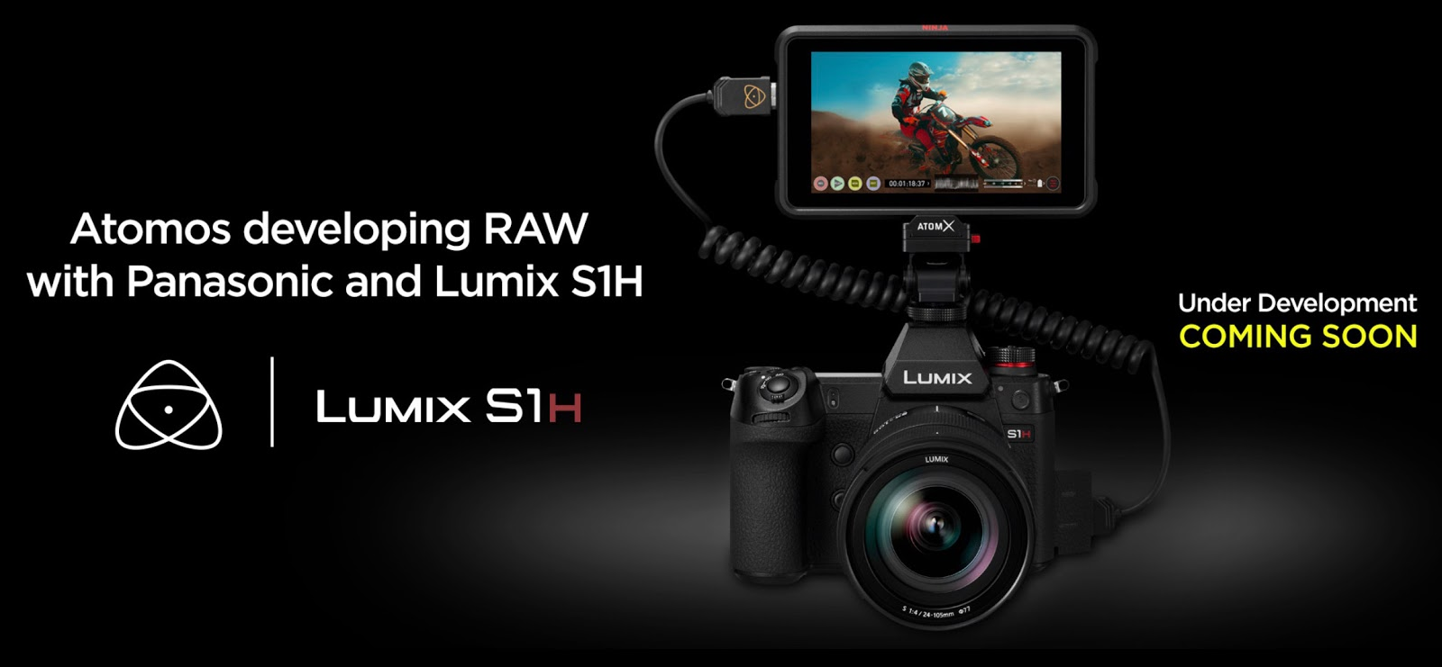 Panasonic Lumix S1H и рекордер Atomos