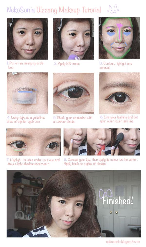 Ulzzang Makeup Tips: Simple Ulzzang Makeup Tutorial