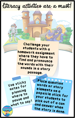 Tips for how to address varied goals using literacy activities.