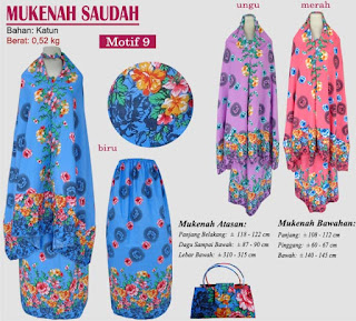Grosir Mukenah Bali cantik -saudah motif 9