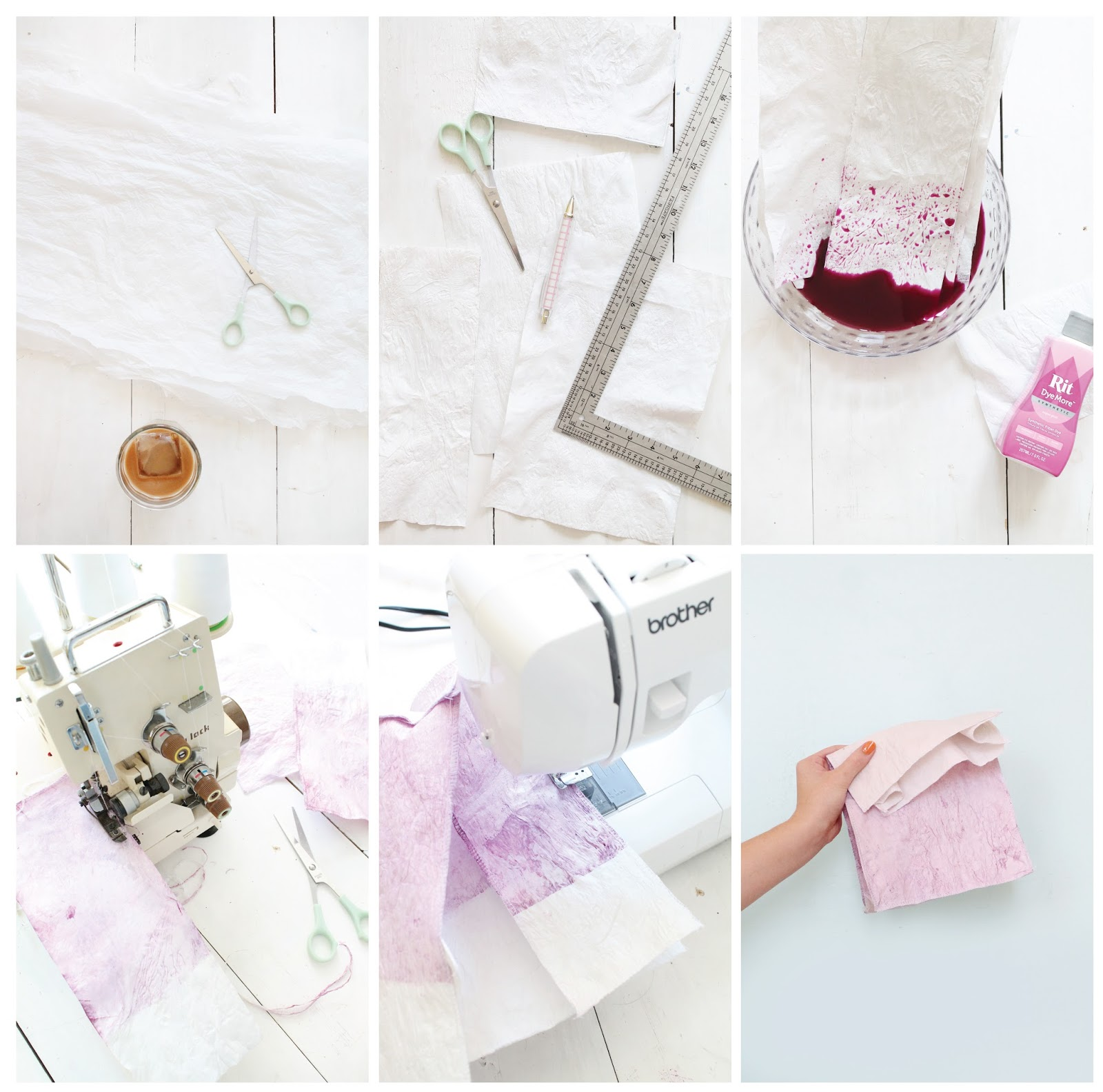 Make a dyed lunch sack from recycled plastic bags.