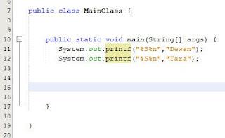 Menformat String Dengan Printf Java 2