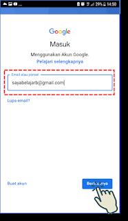 Cara masuk dan menambah akun Gmail di Android 6