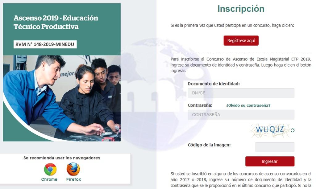 Concurso ascenso escala 2019 educacion tecnico productiva