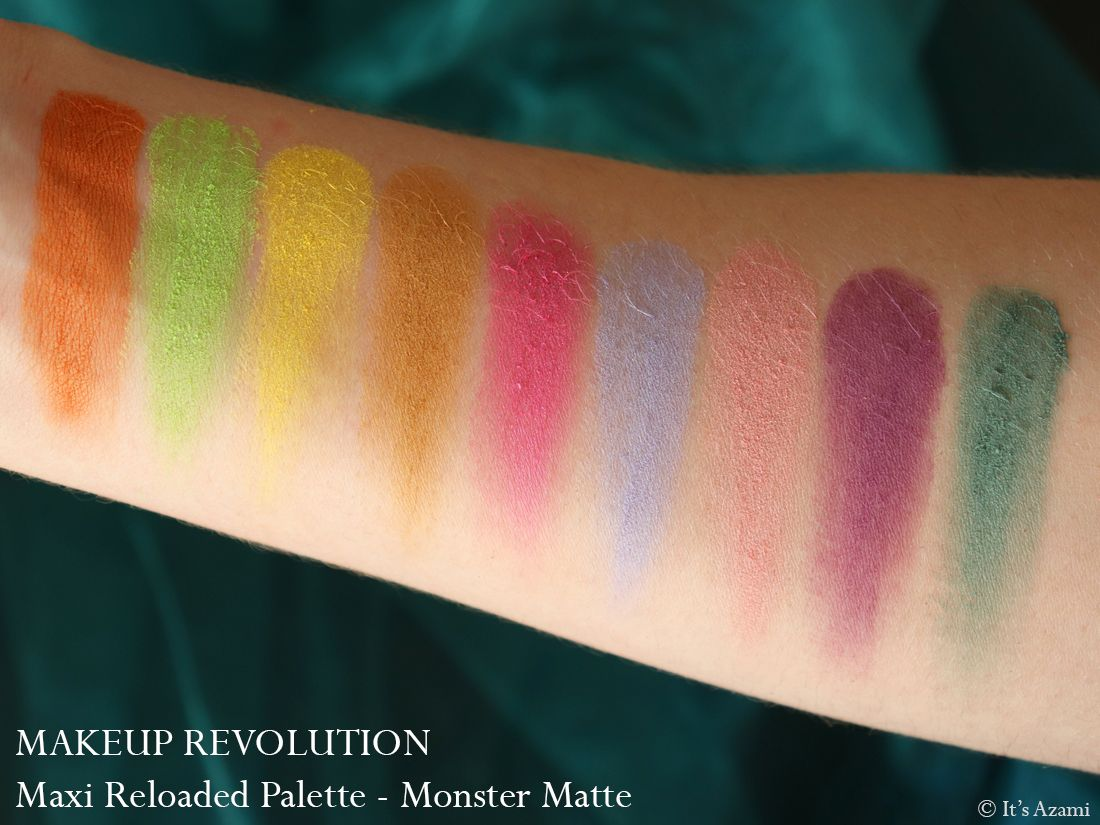 Makeup Revolution Maxi Reloaded Eyeshadow Palettes Review Swatches Avis - Paris London Makeup Artist Beauty Blogger Youtuber - Dream Big - Big Big Love - Monster Mattes - Large it Up It's Azami