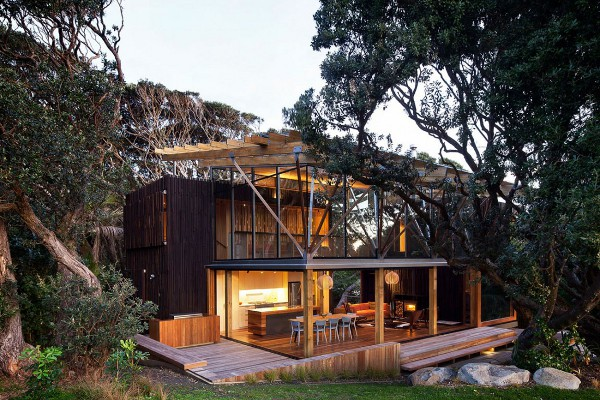 Pohutukawa Beach House [architectural digest]