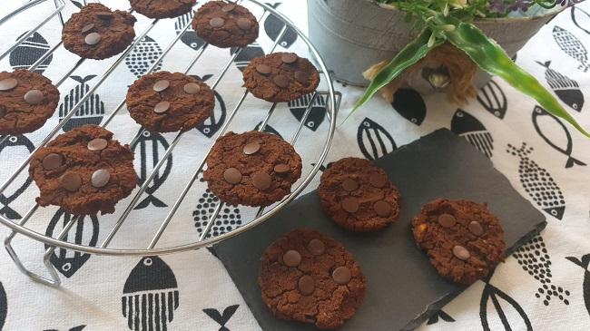 Galletas de chocolate y garbanzos