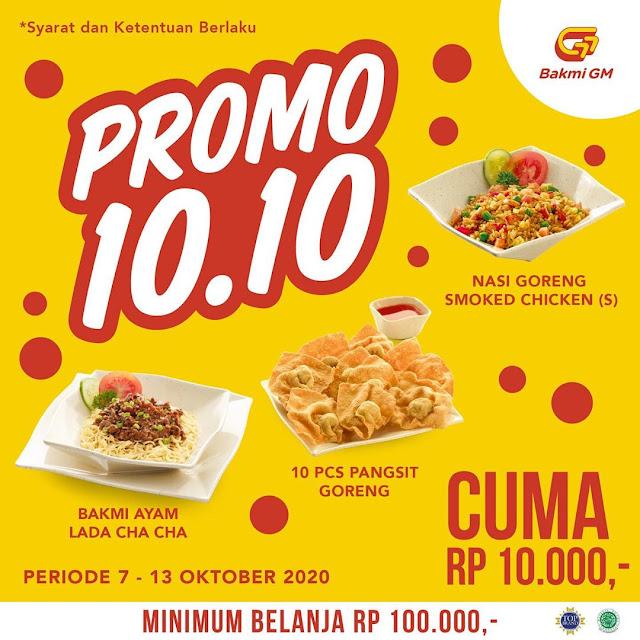 #BakmiGM - #Promo Special Cuma Bayar 10 Ribu di Promo 10.10 (s.d 13 Okt 2020)