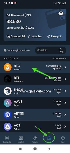Cara Mendapatkan Alamat Bitcoin di Aplikasi INDODAX