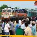 मुरलीगंज स्टेशन पर सैकड़ों की भीड़ ने हमसफर के उद्घाटन का किया स्वागत
