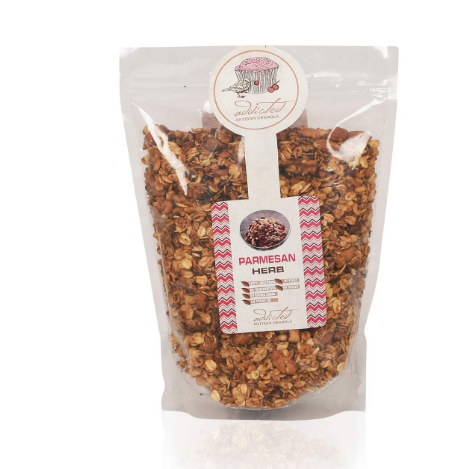 Herb Granola, High in Fibre Veggie Granola, Healthy Cereal for Breakfast Protein with Chia Seeds,Watermelon Seeds,Dried Herbs, Honey,Walnuts and Almonds (800gm)