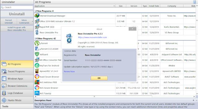 Revo Uninstaller Pro v.4.2.3