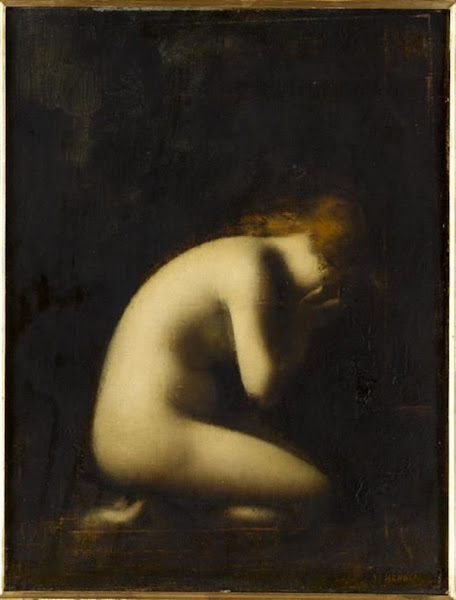 Nymph crying by Jean-Jacques Henner, Classical mythology, Greek mythology, Roman mythology, mythological Art Paintings, Myths and Legends